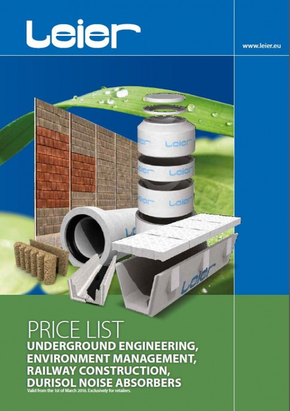 Price-list-Underground engineering environment management